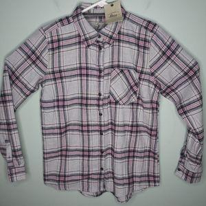 G.H. Bass Cotton Flannel Button Front Shirt